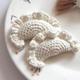 水饺 可爱可口水饺子钩针编织食物编织视频