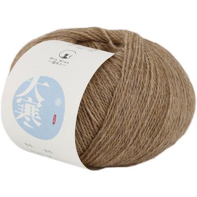 【大寒】羊貂绒混纺 喵夫人秋冬毛线棒针织外套围巾手编线