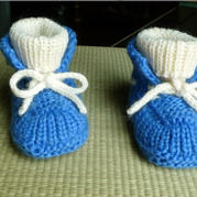 棒针婴儿高筒靴 宝宝穿着不会掉的保暖鞋