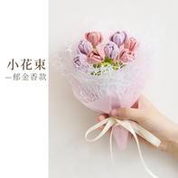 郁金香(6-4)钩针小花束系列编织视频教程