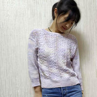 云浅 初秋女士棒针镂空套头衫