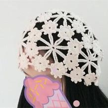 一线连梅花帽(4-3)经典女士钩针帽子编织视频教程