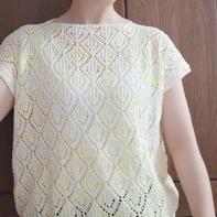 柠檬之夏 云浅女士棒针镂空花无袖套衫