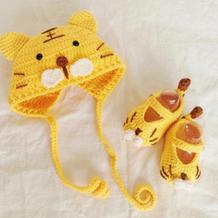 老虎帽(3-1)儿童钩针宝宝帽子鞋子编织视频新手教程