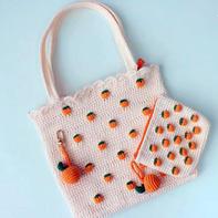 桔子卡包(5-3)清新橘子主题包包饰物编织视频教程