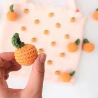 桔子挂件(5-5)清新橘子主题包包饰物编织视频教程