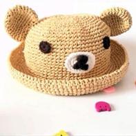 可爱棉草拉菲小熊帽子编织视频
