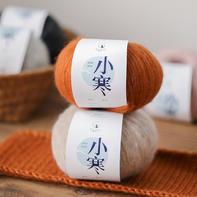 【小寒】金银丝羊毛 喵夫人秋冬围巾外套线柔软舒适手编线