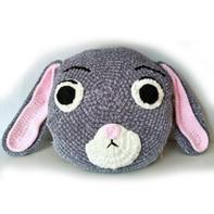 兔子抱枕(3-2)雪尼尔粗线钩针编织趣味卡通抱枕视频教程