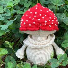 MPの的蘑菇人  胖胖憨憨可爱钩针蘑菇玩偶编织图解