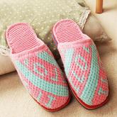 LOVE字母图案拖鞋(9-6)与爱有关的系列毛线鞋编织视频