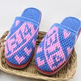 1314一生一世图案拖鞋(9-8)与爱有关的系列毛线鞋编织视频