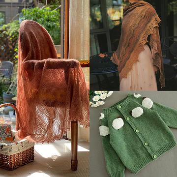 202140期周热门编织作品:春秋女士儿童手工编织服饰8款
