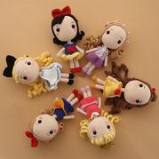 公主主体钩法(7-1)大头公主钩针玩偶娃娃系列视频教程