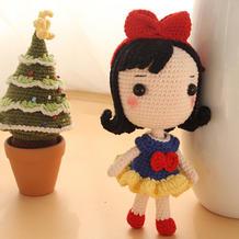 白雪公主(7-2)大头公主钩针玩偶娃娃系列视频频教程
