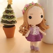 乐佩长发公主(7-3)大头公主钩针玩偶娃娃系列视频频教程