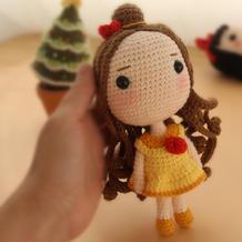 贝尔(7-4)大头公主钩针玩偶娃娃系列视频频教程