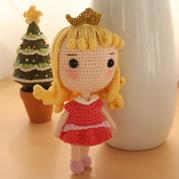 睡美人(7-5)大头公主钩针玩偶娃娃系列视频频教程