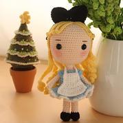 爱丽丝(7-6)大头公主钩针玩偶娃娃系列视频频教程