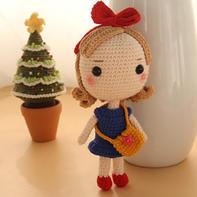 魔女琪琪(7-7)大头公主钩针玩偶娃娃系列视频频教程