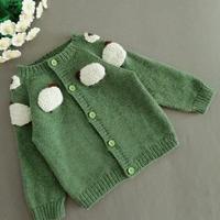 ins小羊开衫 从上往下织儿童棒针插肩开衫毛衣