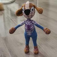 蜘蛛狗侠 创意手工编织钩针狗狗蜘蛛侠玩偶