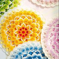 生命之花曼陀罗坐垫(3-3)创意毛线编织钩针坐垫编织视频教程