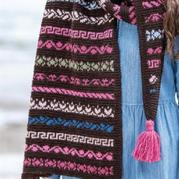 好看的一组小提花花样图解 织围巾织披肩解决零线或段染线