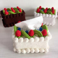 草莓蛋糕纸巾盒 手工毛线DIY家居编织视频教程
