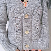滟滟 喵夫人金丝羊毛女士棒针V领开衫毛衣