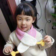 萌可爱钩针儿童唐老鸭围巾(附图解)