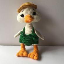 加油鸭 娃娃家2.0编织可爱钩针小鸭子玩偶