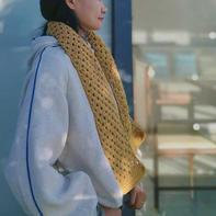 仿miumiu围巾 编织方法超简单的简约百搭钩针小围巾