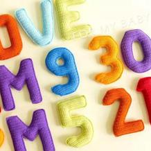 字母款(2-1)钩针幼儿益智早教玩具编织视频教程