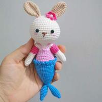 娃娃家编织钩针美人鱼兔及图解