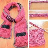 如何为围巾加一个别致又实用的小口袋 编织技巧教程