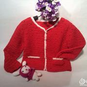 织宝宝开衫毛衣视频 宝宝开衫毛衣织法
