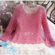 钩针编织毛衣,钩针编织夏季毛衣,钩针编织毛衣花样款式图解